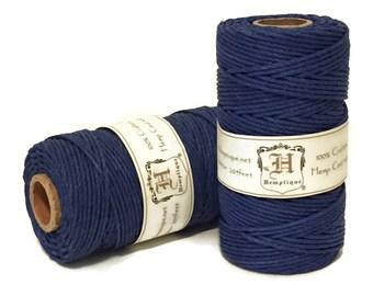 Hemp Cord, Blue, 1.8mm Macrame Cord, Packaging String, Hemp Craft Cord, Beading Cord, 48lb Hemp Twine, Thick Hemp