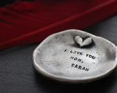 Trinket Plate | Personalized Jewelry | Engraved Pewter | Christmas Gifts | Mom Gift | Mother's Day | Custom Jewelry Designs | Hand Stamped