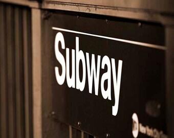 New York Photography, sepia photography, Subway, metro, fine art print 8x10 or 8x12, NYC art/New York print/New York poster