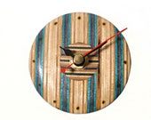 Recycled Skateboard Clock, Wood Clock, Office Accessories, Skateboard Art, Reclaimed Wood, Handmade Gift, Mini Clock, Bespoke Art