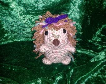 "Crocheted Miniature ""Lil' Sis"" Hedgehog"