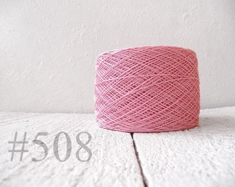 Linen crochet knitting weaving thread  - baby pink  color # 508