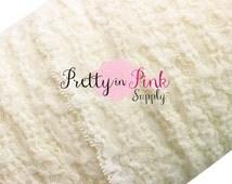 "Ivory Lace Elastic 1""- 1"" Premium Lace Elastic- 1"" Lace Elastic- Lace Foe- Lace Elastic- Lace Fabric- Supply Shop- DIY Baby Headbands"