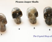Picasso Jasper Crystal Skull 2 inches 50mm