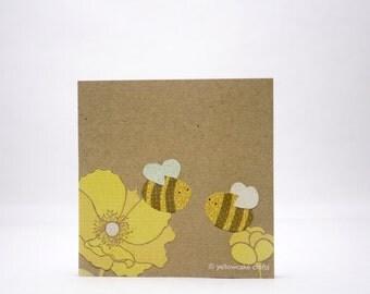 STICKY NOTEPAD: Lovey Dovey Bees