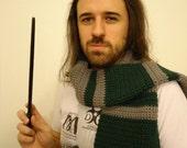 Hogwarts Inspired Slytherin Scarf
