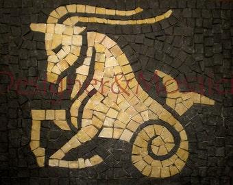 kit mosaic zodiac sign Capricorn 25x21 cm