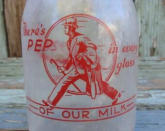 Rockford Dairies Inc Milk Bottle One Quart