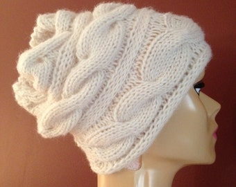 Cabled Knit Hat
