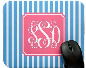 Monogrammed Mousepad • Design your own • custom monogram Mousepad