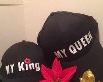 His and Her (my king/my queen) hat set