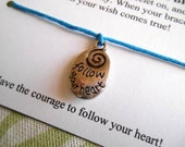 Follow Your Heart - Wish Bracelet - Choose your color