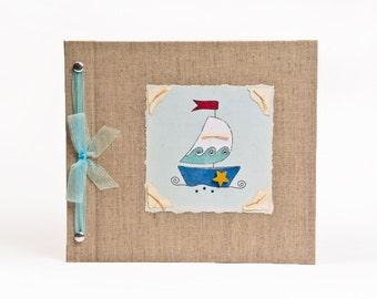 Baby Book - Baby Memory Book - Boy, Sailboat, Baby Album - Sailboat Baby Memory Book - Hugs and Kisses XO Baby Memory Book