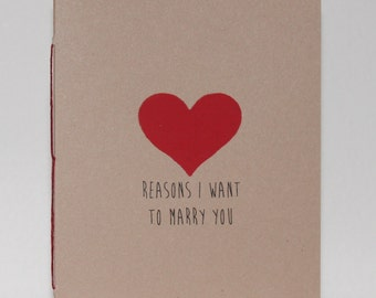 Valentine Heart - Reasons I Want To Marry You Booklet