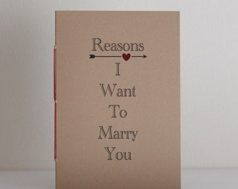 Reasons I Want To Marry You Booklet
