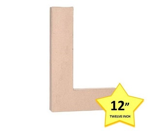 Paper Mache Letter L - 12 Inch - Craft Supplies and Tools