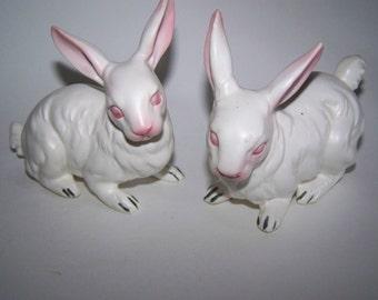 NAPCOWARE Rabbit Figurines Japan Rabbits Napcoware Bunnies White Rabbits Easter Bunny