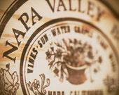 Napa - Original Fine Art Photograph (home decor, Napa Valley, wine crate, merlot, vineyard)