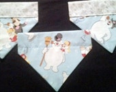 Christmas Dog Bandanas made from Frosty the Snowman fabric!!