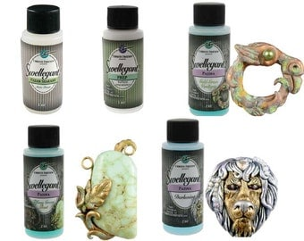 Sale! Swellegant® Metal Treatments & Patinas Clear Sealant /Surface Prep /Verdigris Patina /Tiffany Green Rust Patina /Darkening Patina