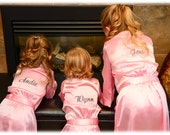 Junior Bridesmaid, Flower Girl Personalized Front Embroidered Robes
