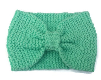 Mint Winter Turban - Wide Knitted Headband