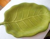 Vintage Ceramic Leaf Platter