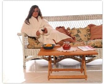 Handmade Solid Oak Folding Coffee Table