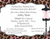 Lingerie Shower Invitations - 25 Qty