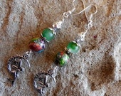 Dangle stone, fairy, moon and star earrings