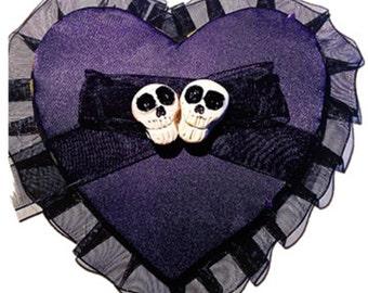Plum/purple Heart clip fascinator