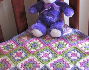 Crochet baby Afghan blanket - Granny Squares