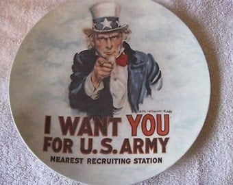I Want You For U.S. Army 1982 Curator Collection Ltd Plate s Paperwork CL26-33