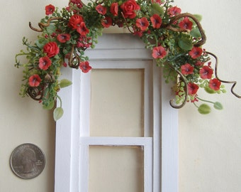 Dollhouse Miniature Window or Door Swag one inch scale