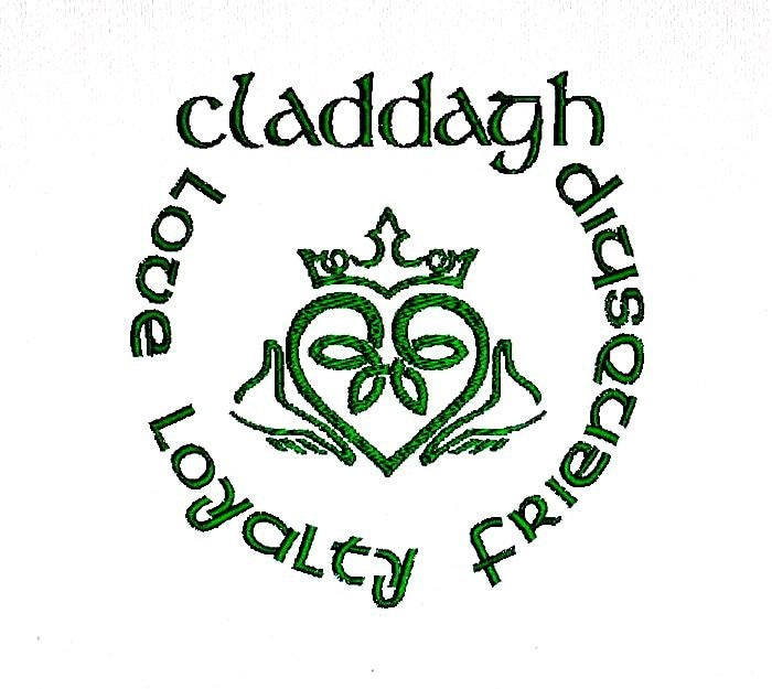 Irish Claddagh Ring Embroidery Design Love by BroderieCreative Irish Loyalty Symbol Tattoo