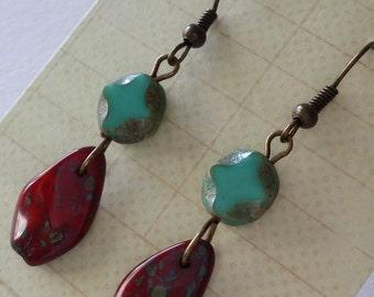 Vintage Czech Glass Earrings