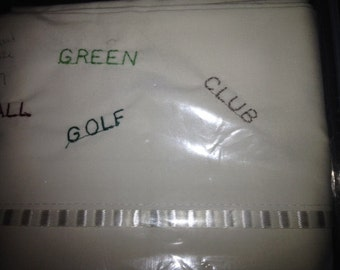 Embroidered Pillowcase for Golfer