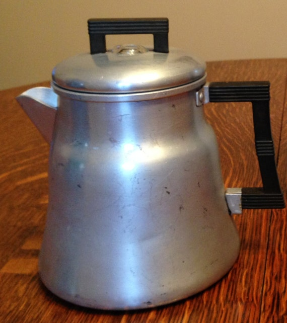 Old Fashioned Stove: Old Fashioned Stove Top Metal Coffee Carafe By
