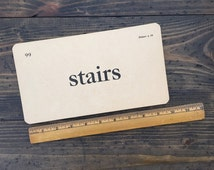 stairs • vintage flash card • Winston Reader word card • 1920's ephemera