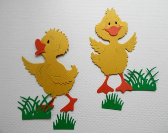 Duck and Grass Die Cuts