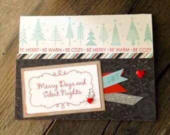 Handmade Christmas Card Holiday Card Season's Greetings