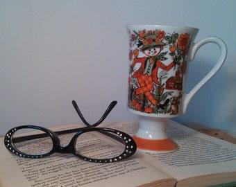 Vintage Royal Crown Arnart Smug Mug Footed Mug Coffee Tea Cup Straw Man by Kathy K #3053