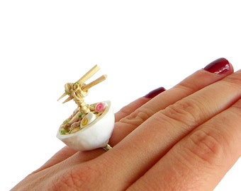Ramen Soup Ring - Food Jewelry - Miniature Food