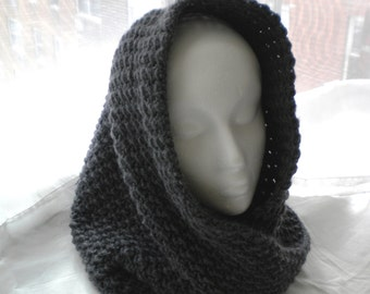 Crochet Twisted COWL/HOOD PATTERN - Enchanted Mobius