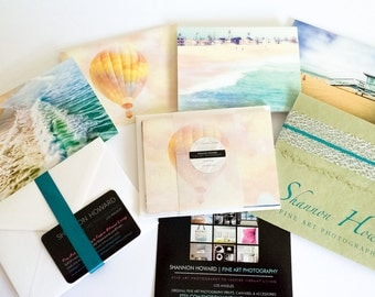 GBK Golden Globes Celebrity Gift Lounge-California Photography Cards-Set of 4 Note Cards-beach ocean surf stationary Los Angeles