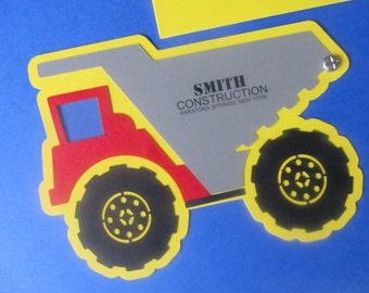 Dump Truck - Construction themed party invitation