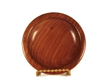 Handmade wooden ring or coin bowl