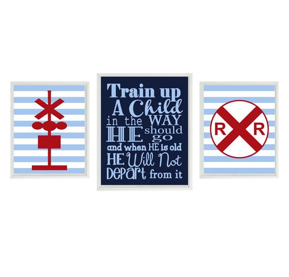 Train Wall Art proverbs 22:6 train wall art baby boy nursery train nursery
