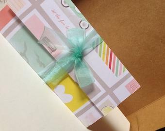 Chic Valentine Gift card Holder/sweet love/gift filler/moped/blank