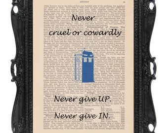 Doctor Who: Art Print (Never Cruel or Cowardly) Dictionary Art